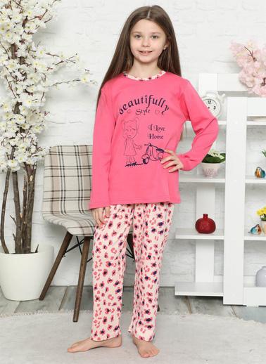 Akbeniz 7704106 Pamuklu Çocuk Pijama Takımı Pembe